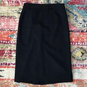 LOFT 4 Fully Lined Stretch Black Pencil Skirt